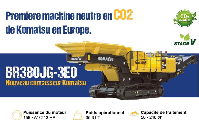 Machine respectueuse de l'environnement complémentaire aux activité de démolition. Neutre en CO2, efficiente dans les secteurs d'activité de la démolition