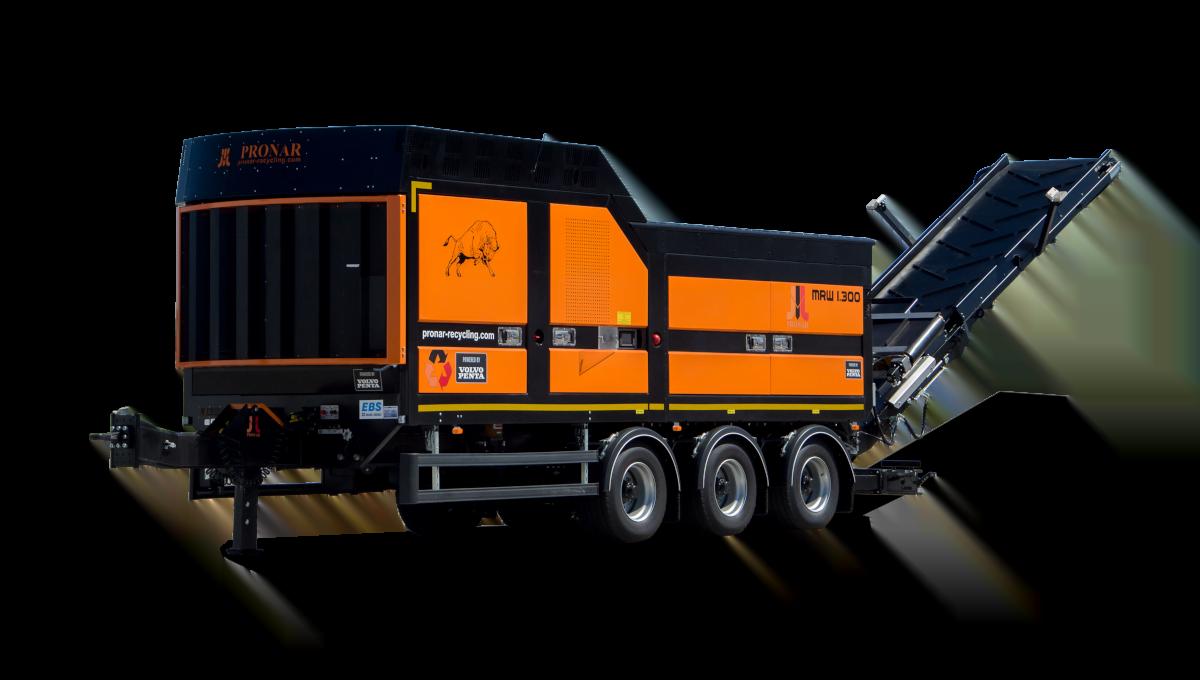 Équipement mobile de traitement et valorisation de déchets distribué par SAMI TP.