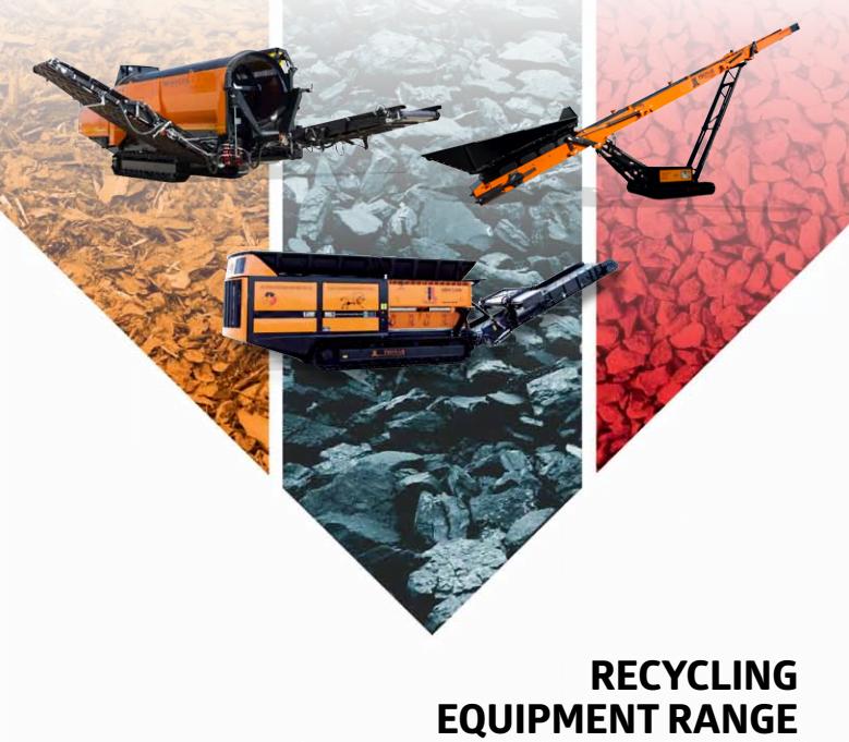 Catalogue de la gamme de produit Pronar pour la valorisation et le traitement de déchets.