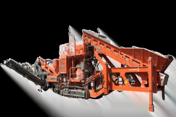 Machine de carrière mobile pour concassage d'agrégat, de granulat