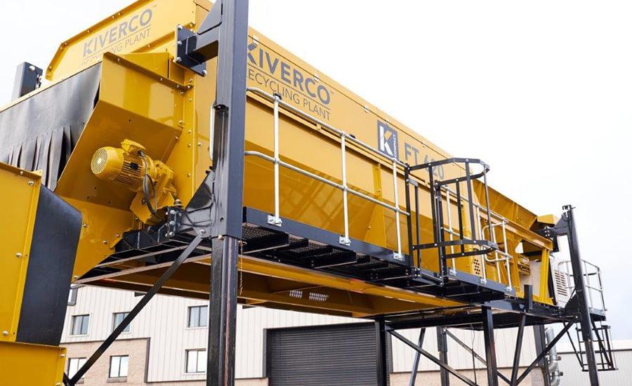 Trommel Kiverco France pour une utilisation dans des centres de tri afin de trater tout type de matériau.